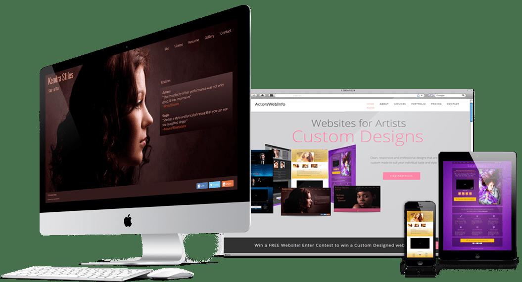 websites on various screens
